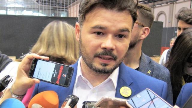 Rufián apuesta por Tardà como candidato a las próximas autonómicas catalanas, que cree que podrían celebrarse en febrero