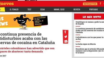 Sindicatos policiales denuncian a 'El Jueves' por insinuar que los antidisturbios consumieron cocaína en Cataluña
