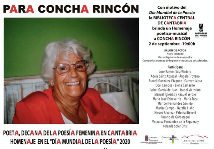 Homenaje de Concha Rincón en el Día Mundial de la Poesía