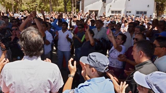 Protestas policiales. Foto DyN