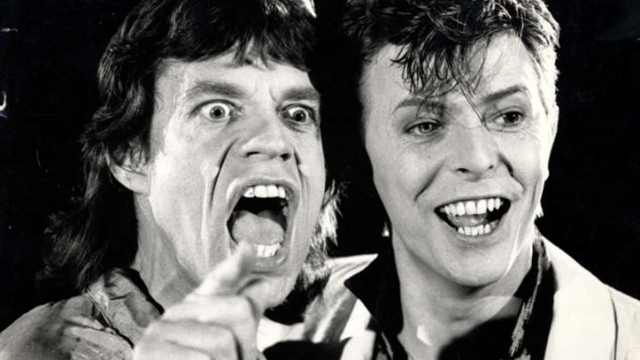 PKT5328-392009 MICK JAGGER SINGER 1985 Rolling Stones' lead singer Mick Jagger and David Bowie
