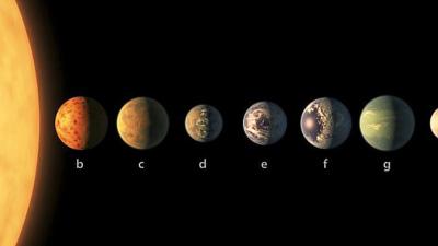 Los planetas que forman TRAPPIST-1 podrían tener agua en abundancia