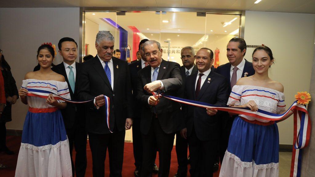 Resultado de imagen para inauguran embajada dominicana en china