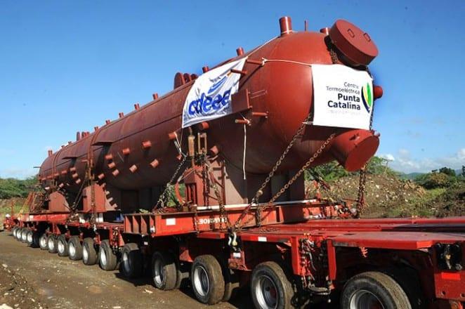 La semana pasada llegó al país uno de los dos domos a vapor para las plantas a carbón de Punta Catalina.