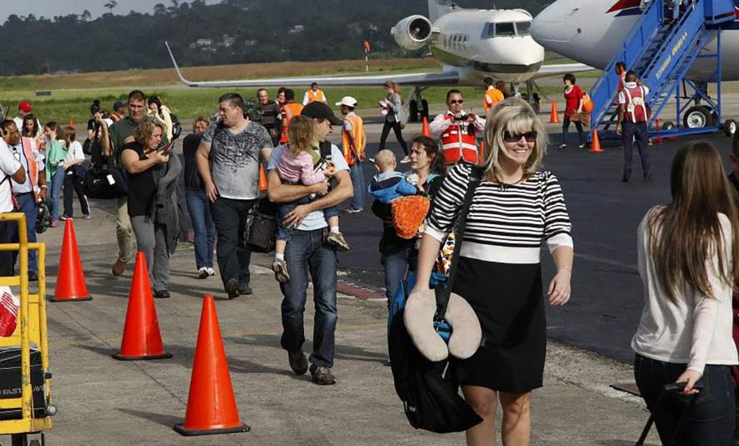 llegada de turistas