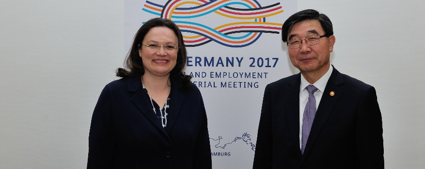 nahles meets with employment and labor minister of the republic of korea