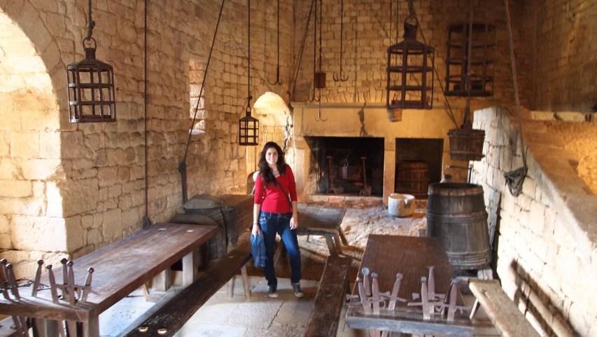 Cocina del castillo de Beynac et Cazenac