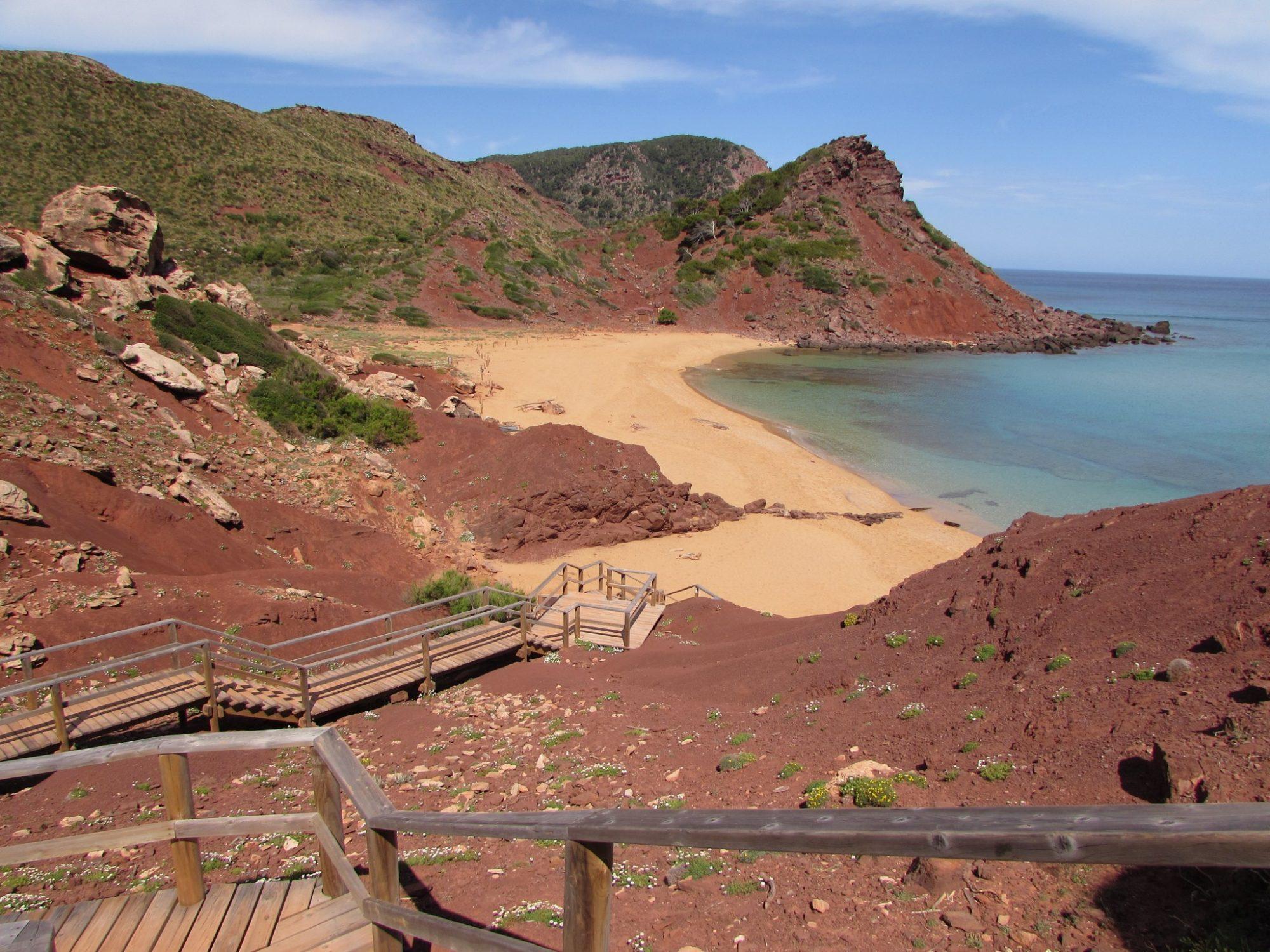 Cala Pilar, una de las más bonitas de Menorca