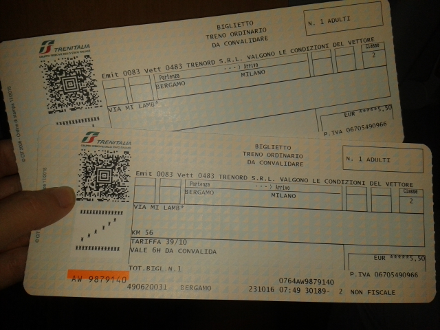 Presupuesto viaje a Bérgamo, Italia