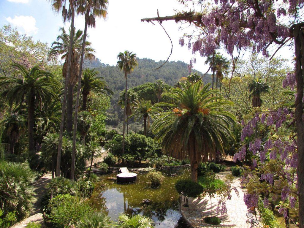 Estanque en los jardines de Alfabia