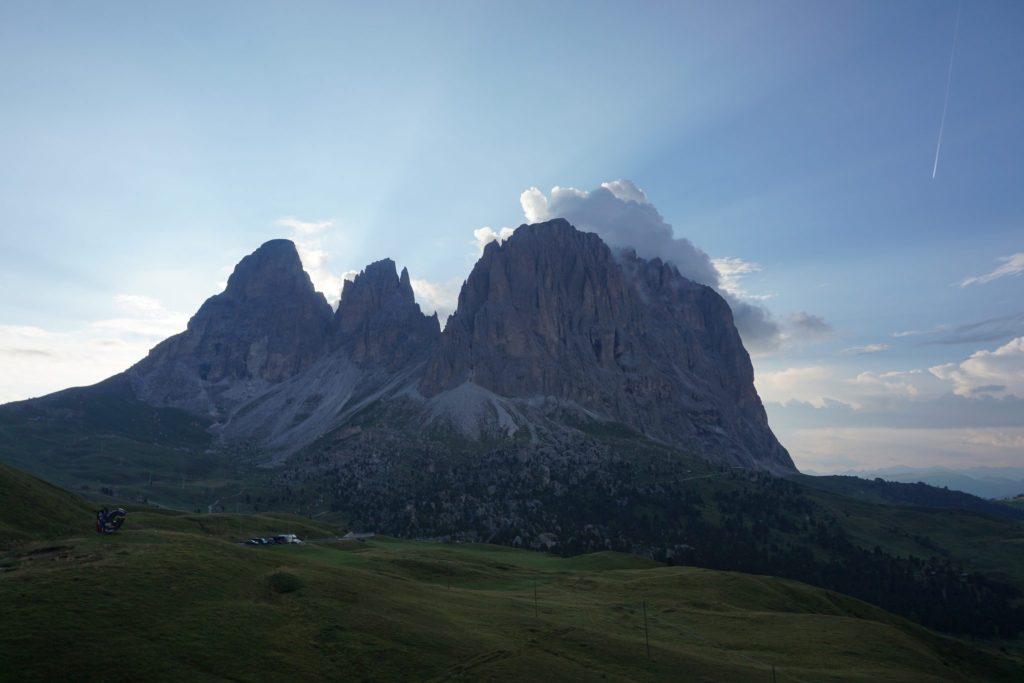 Atardecer en el Paso Sella (Dolomitas)
