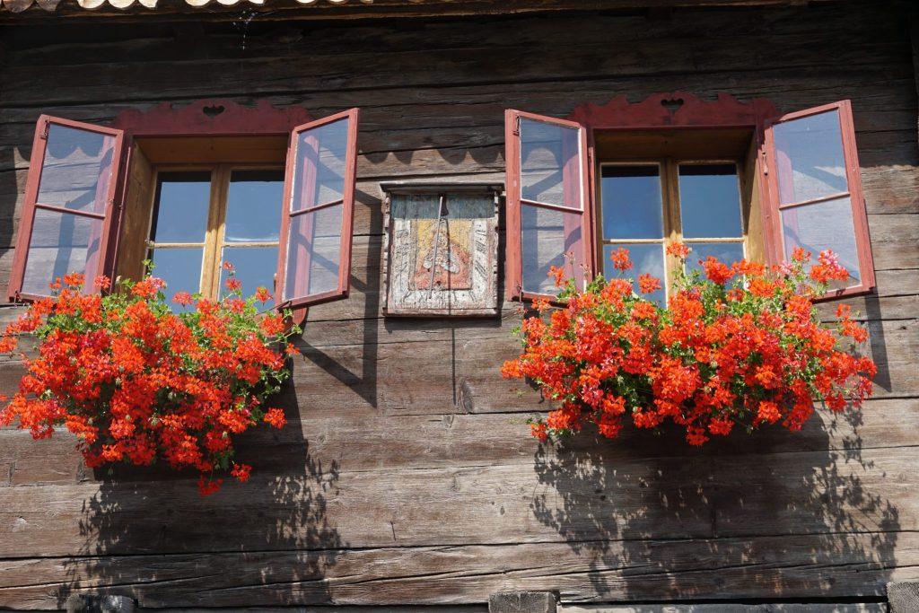 Detalle fachada en Mautendorf - Austria