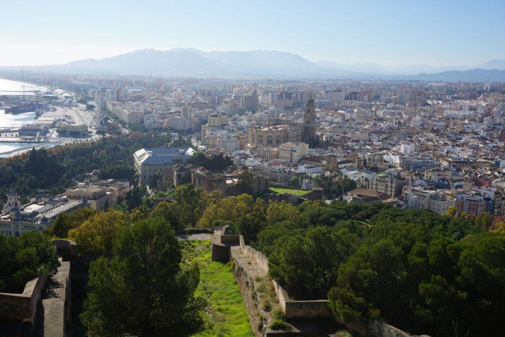Vistas desde el Castillo de Gibralfaro