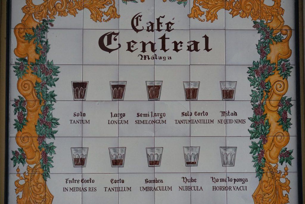 ¿Cómo pedir el café en Málaga?