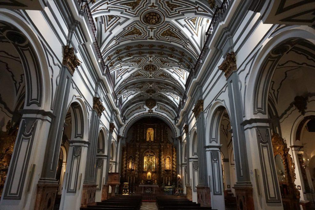 Interior Iglesia de San Juan Bautitsa, Málaga