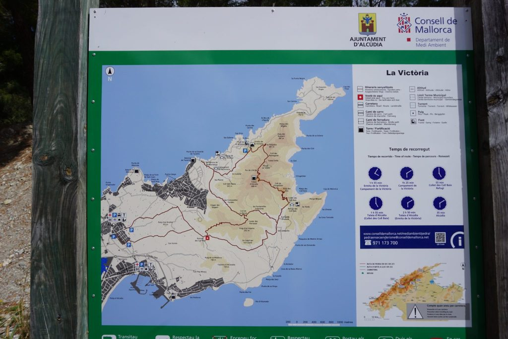 Cartel informativo península de Alcudia