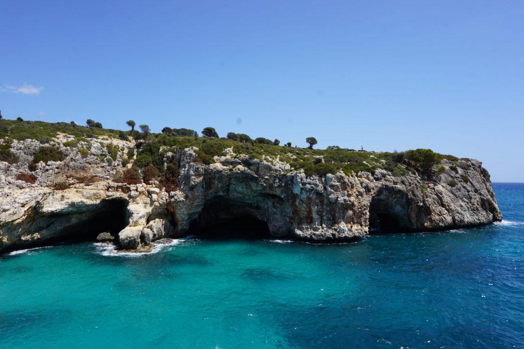 Cuevas marinas costa este Mallorca