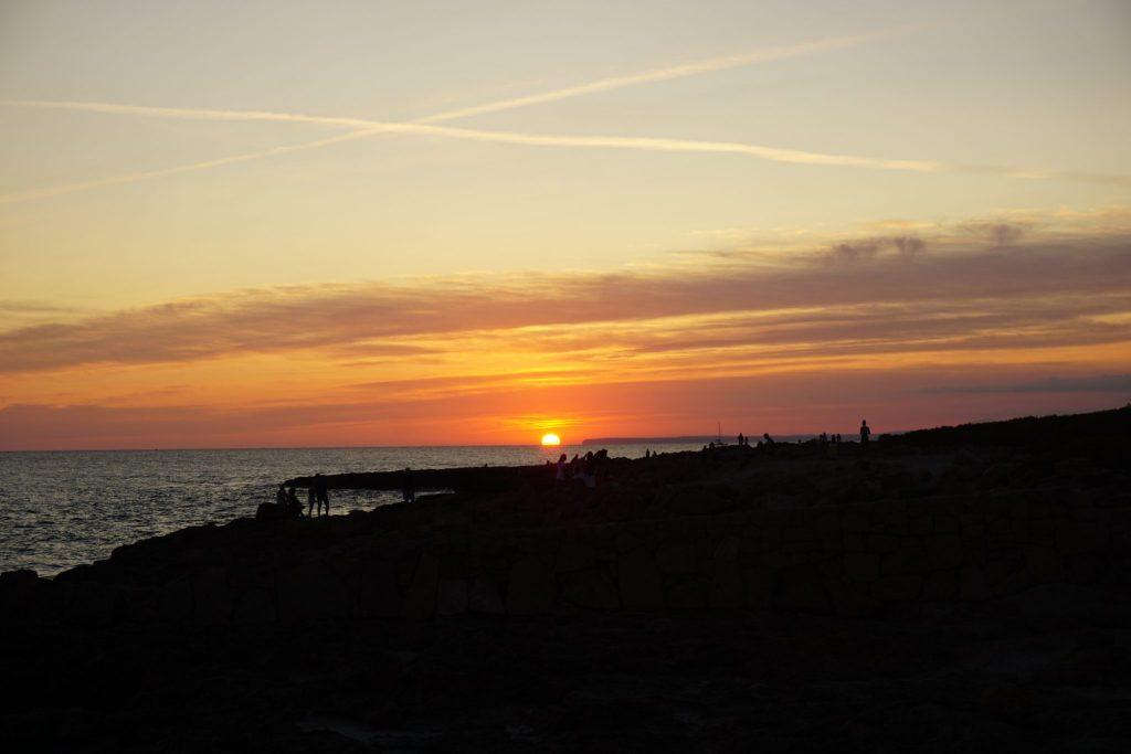 Puesta de sol desde el faro de Ses Salines