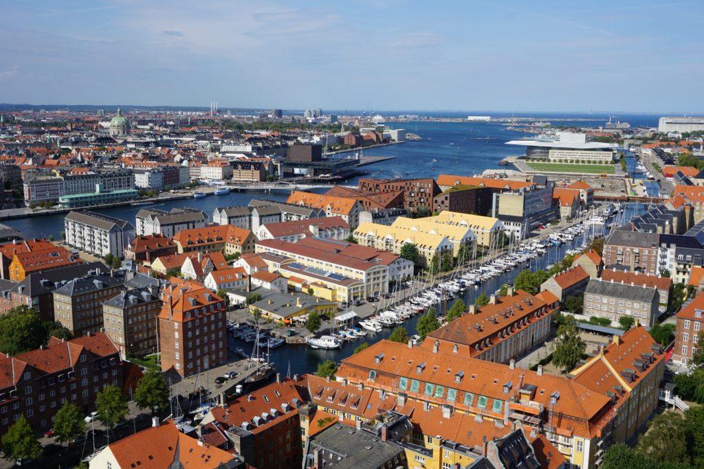 Vistas de Copenhague desde la Iglesia de San Salvador
