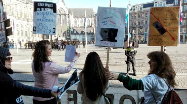 Repudio a Macri en Holanda