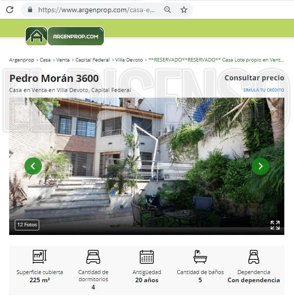 Vista del Patio Interior de la casa de Pedro Morán