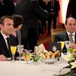 شيخ الأزهر يستقبل الرئيس الفرنسى والوفد المرافق له