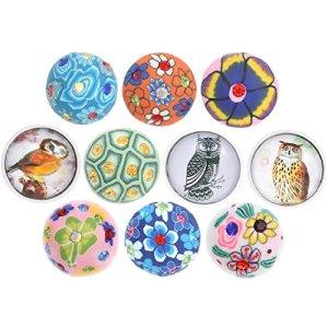 Morella–click-button Lot de 10magique naturel boutons Multicolore