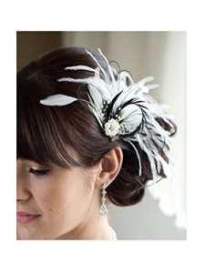 Jelinda Femme pince à cheveux pour mariage Accessoires cheveux noir