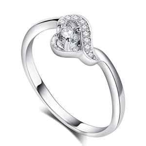 YXYP Impression 1Pcs Anneau élégant anneau de mode accessoires de bijoux fille cadeau de Saint Valentin anneau de mariage Anneau Amour Anneau de luxe 20