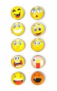 Bijou Bouton à Pression métal – Bijoux interchangeable – motif emoji smiley – 18mm Snaps – Différent coloris – Lot de 10 pcs – Mon-bijou-pression