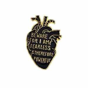 MJARTORIA Carton Brooch Bijoux Broche Badge Style Nouveaux Bijoux pour Décor Vêtement en Forme de Coeur