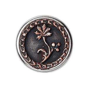 Noosa petite Chunk Victorian Button Blueberry copper