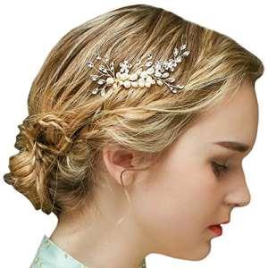 Peigne Cheveux Ariage Or Vintage Strass Perles Accessoires Cheveux de Mariage