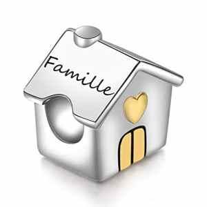 SIMPORDS Charm Mère Femme Gravé Maison d'amour Cadeau pour Maman ou Fille