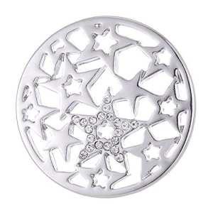 Morella Femme Coin Pendentif 33 mm étoiles Couleur Argent