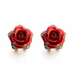 HuaMore Argent sterling 925 CZ en forme de larme Crochet Boucles d'oreilles pendantes ornées de cristaux de Swarovski