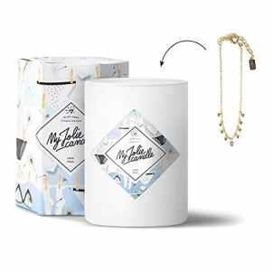 MY JOLIE CANDLE • Bougie Parfumée avec Bijou Surprise à l'Intérieur • Cadeau : Bracelet Or • Parfum Linge Frais • Edition Gold • Cire Naturelle 100% Végétale