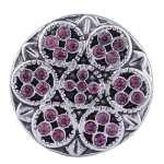 Morella Kit bouton Cœur Lot de 6boutons pression ornement vert violet