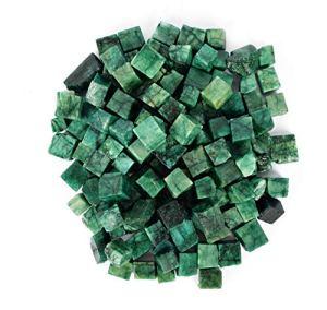 Cube d'émeraude en vrac 500,00 ct beaucoup de lot de 20 pièces Cube vert émeraude, pierre de guérison, cube pour bijoux et usages multiples