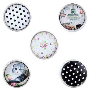 Morella click-button Lot de 5boutons pression pour bijou joli Paris
