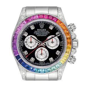 Rolex Cosmograph Daytona 116509 Lunette Diamant Arc-en-Ciel Or Blanc