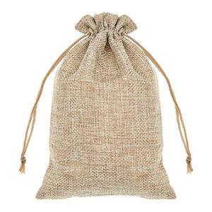 SumDirect 20 Sacs en Toile de Jute, Mini Sacs-Cadeaux légers avec Poches Respirantes avec Cordon de Serrage et Sacs de Rangement en Jute pour Le Mariage, fête, Anniversaire (Brown)