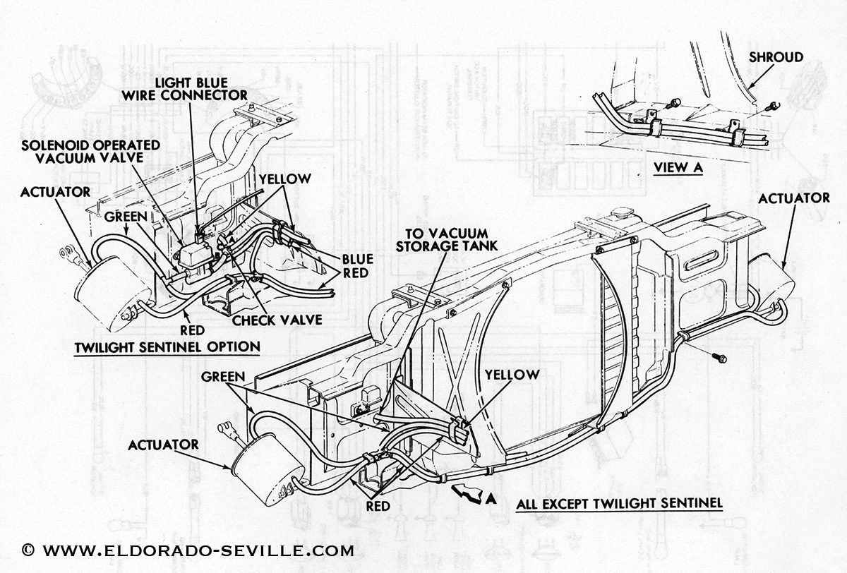 1969 Cadillac Deville Vacuum Diagram, 1969, Free Engine
