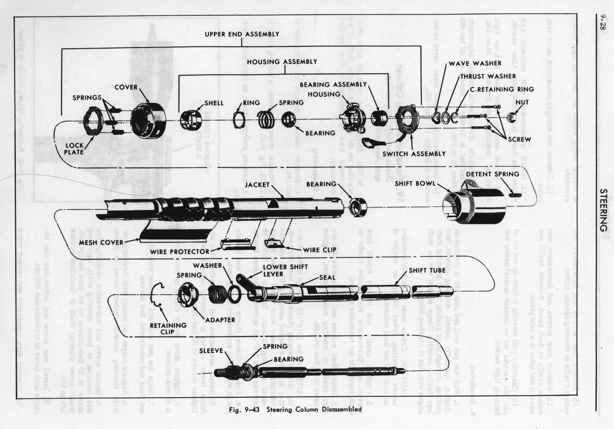 Camaro Steering Column Diagram