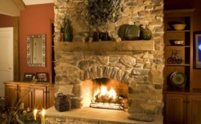 Image result for stone fireplace