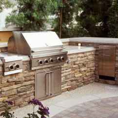 Stacked Stone Outdoor Kitchen Play Wood Living Eldorado