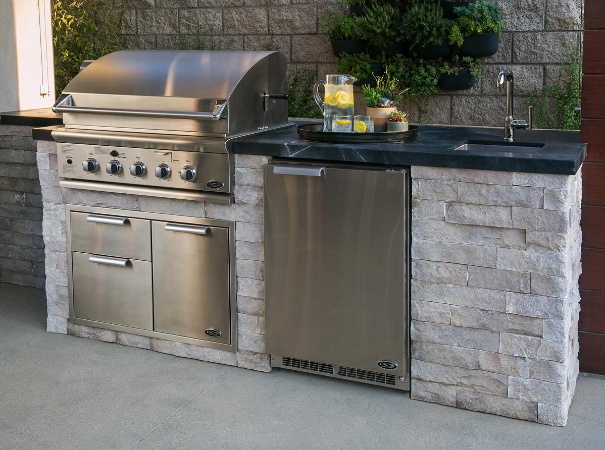 outdoor kitchen milo's living eldorado stone cabinets
