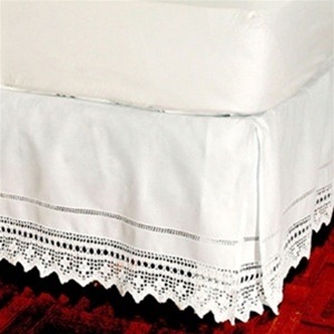 Bedskirt Hand Crocheted Elegant Hand Crochet Lace Tailored Bed Skirt 100 Cotton With An