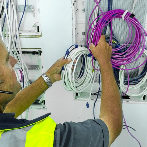 Electrician Attending Spare Parts on Van