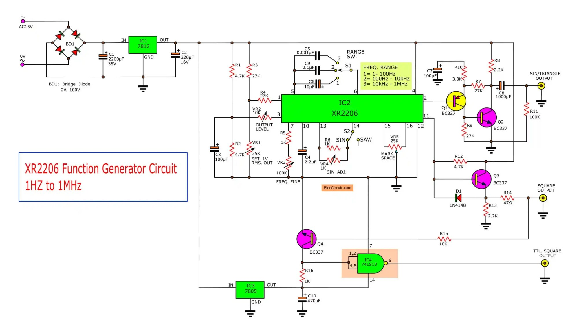 hight resolution of 1 voltage control oscillator vco that has the frequency out to depending on the value of the capacitor between pin 5 6 and the resistor between the pin